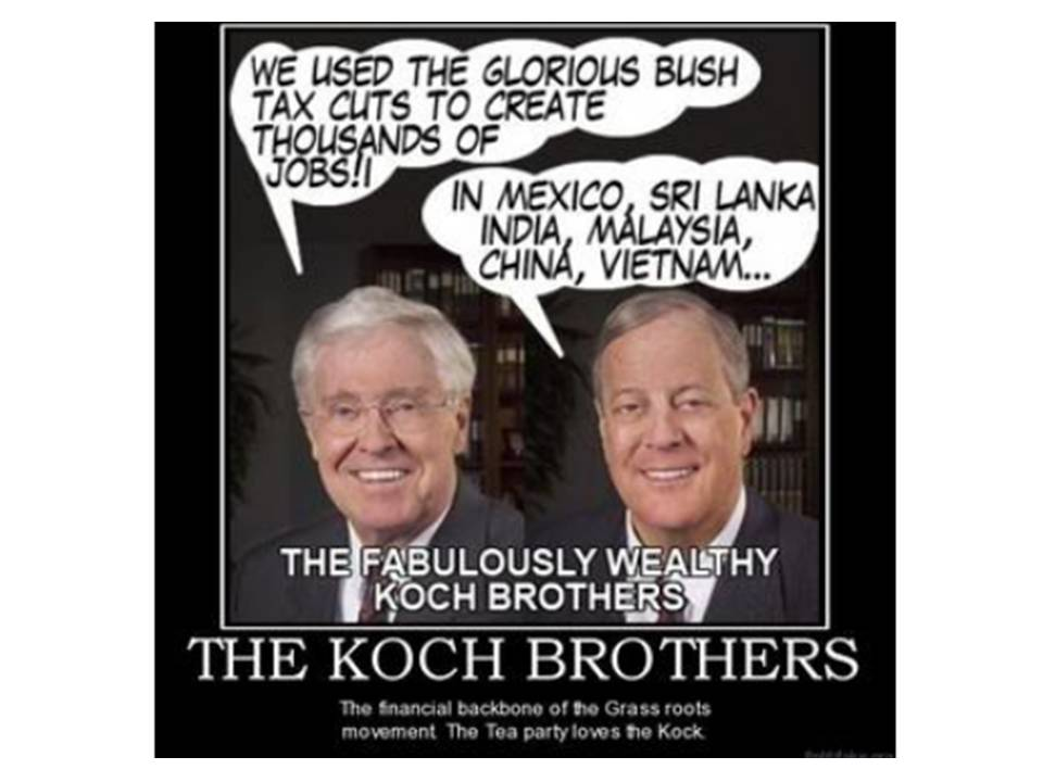 The Koch Control & Misinformation Network?