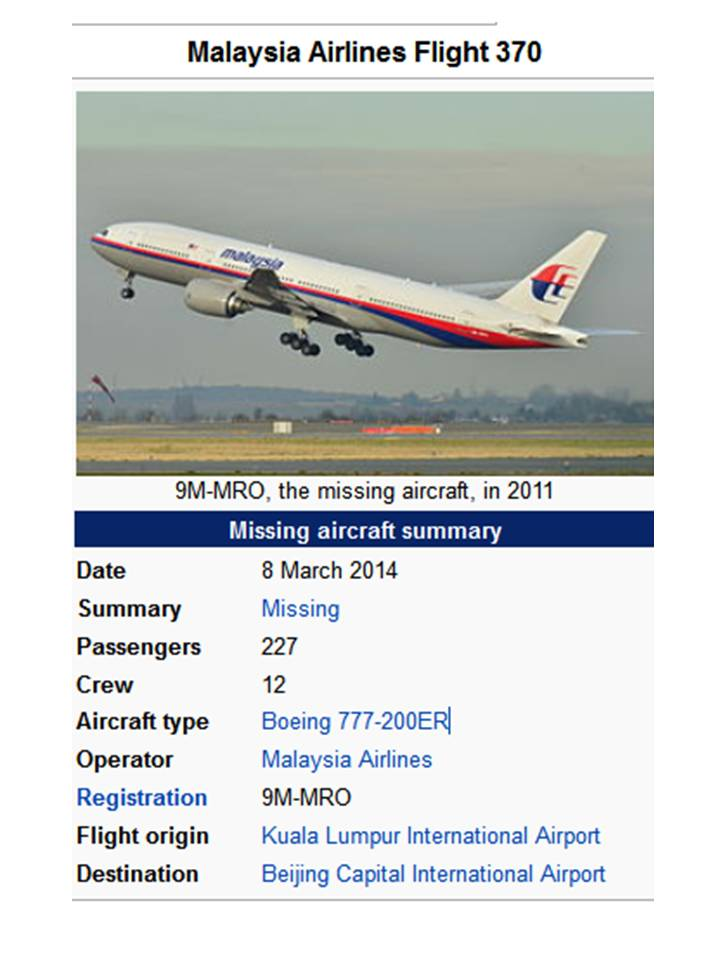MH370: The Story Told!